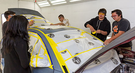 Collision Repair Tech Students
